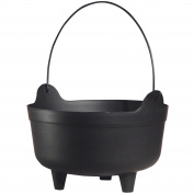 Small Black Kettle Halloween Decoration