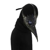Plague Doctor Mask Birds Long Nose Beak Faux Leather Steampunk Halloween Costume Props