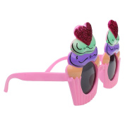 MagiDeal Glitter Heart Cupcake Sunglasses Party Glasses Fancy Dress Hen Stag Night