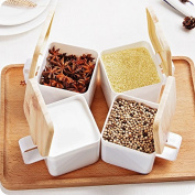 5 pack Plastic kitchen seasoning box clamshell seasoning cans square box set