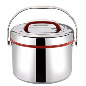 lzzfw Lunch Box 304 Stainless Steel Insulated Double-Layer Portable Large Capacity 2.5L , A