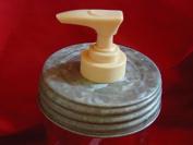 Wide Mouth Galvanised Lid & Single Gold Pump - Mason Jar Lotion/Soap dispenser