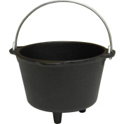 King Kooker Pre-Seasoned Small Cast Iron Pot with Feet, 3-Cup Size