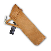 CAROL TRADITIONAL LEATHER HIP/SIDE ARROW QUIVER AQ136S - BROWN