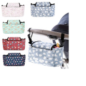 Samber Baby Waterproof Stroller Organiser Bag with Large Capacity Nappy Changing Bag