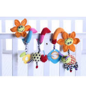 Infant Baby Activity Spiral Bed & Stroller Toy Spiral Activity Hanging Toys Stroller toys Cart Seat Pram Toy Sunflower for Baby Girls and Boys Gifts