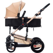 ERRU Baby Pushchairs Prams High Landscape Baby Stroller /Can be sitting or Lie folded baby multi-function two-way four-wheel Trolley(Colours Optional) for parent who want fashion travel
