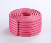 TheWin 2M Baby Cushion Table Edge Corner Guards, Hot Pink