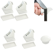 Baby Safety Lock, Fascigirl 5 Pcs Magnetic Lock No Tools No Screws Needed Baby Safety Cabinet Lock
