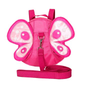 Xiaoyu Baby Butterfly with Wings Walking Safety Harness Reins Toddler Child Kid Strap Backpack Bag, Rose