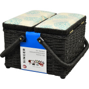 Singer Square Picnic Sewing Basket with Notions