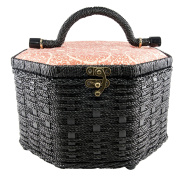 Singer Octagon Sewing Basket with Notions