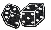 black dice craps gambling Las Vegas poker embroidered patch Ideal for adorning your jeans, hats, bags, jackets and shirts.
