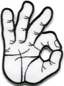 Ok Okay Hand Sign Signal patch Ideal for adorning your jeans, hats, bags, jackets and shirts.