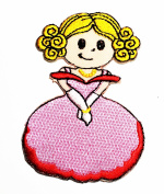Little Princess cartoon kids patch Ideal for adorning your jeans, hats, bags, jackets and shirts.