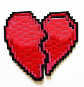 Black Broken Heart patch Ideal for adorning your jeans, hats, bags, jackets and shirts.