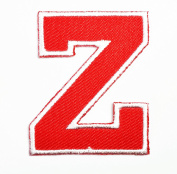 Red Alphabet Letter Z patch Kids Learning School ABC Iron On patch Ideal for adorning your jeans, hats, bags, jackets and shirts.