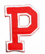 Rde Alphabet Letter P patch Kids Learning School ABC Iron On patch Ideal for adorning your jeans, hats, bags, jackets and shirts.