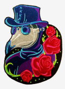 Neon Plague Doctor Sew On Patch