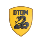 EJG Don't Tread On Me Tactical Patch (3.6 2.5cm ) DTOM Snake Badge Shield 3D PVC Hook and loop Patch Rubber Hook & Loop Patch