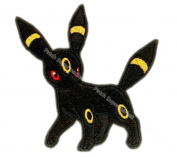 J & C Family Owned Application Pokemon UmbreonTheme Cosplay Applique Patch Great gift for Parties, Decoration. Or Collecting!
