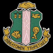 Alpha Kappa Alpha Shield Cotton Emblem Patch 15cm