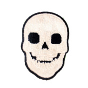 11cm DIY Clothes Sewing Iron on Patch Towelling Skull Applique Fashion Accessories for T-shirt