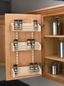 Cabinet Door Spice Racks, Wood Adjustable Spice Racks, Adjustable Spice Rack, 33cm - 0.3cm Width, 10cm Depth, 60cm Height