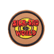 U-Sky Sew or Iron on Patches - Poor Sick Sad World Patch