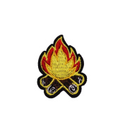 U-Sky Sew or Iron on Patches - Campfire Patch