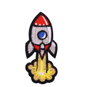 U-Sky Sew or Iron on Patches - Flying off Rocket Patch