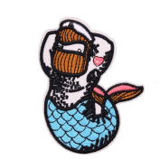 U-Sky Sew or Iron on Patches - Male Mermaid Patch