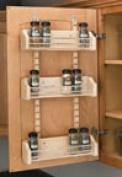 Cabinet Door Spice Racks, Wood Adjustable Spice Racks, Spice Rack Bins Only, 41cm - 0.3cm Width, 10cm Depth, 7.6cm - 1.6cm Height