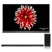 LG OLED65G7P 170cm Signature OLED 4K UHD HDR Smart TV with Dolby Vision and Dolby Atmos with SJ8 4.1 Channel High Resolution Audio Soundbar with Wireless Subwoofer