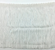 Trimplace White 13cm Chainette Fringe - 3 Yards