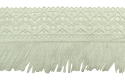Zigzag Pattern Crochet Cutwork Fabric Trim Sewing Lace Supply 9.39 cm Wide By The Yard