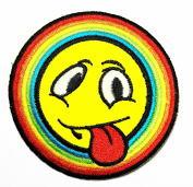 HHO Rainbow ogle Patch Embroidered DIY Patches Cute Applique Sew Iron on Kids Craft Patch for Bags Jackets Jeans Clothes