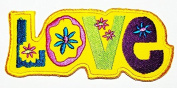 HHO Love, Embroidered Hippie Patch Embroidered DIY Patches, Cute Applique Sew Iron on Kids Craft Patch for Bags Jackets Jeans Clothes