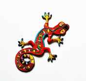 HHO Lizard gekko salamander retro hippie Patch Embroidered DIY Patches, Cute Applique Sew Iron on Kids Craft Patch for Bags Jackets Jeans Clothes