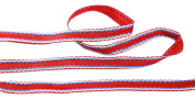 Beautiful Plain Style Embroidered Border Cotton Ribbons Tape Lace Trim 14mm Wide M3503/14 (Red