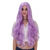 Women's Long Curly Heat Resistance Halloween Cosplay Wig with Cap 31.5