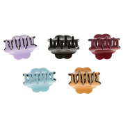 MagiDeal Colourful Jaw Gripper Claw Hair Clip Barrette Women Girls Hair Accessory Pack of 5Pcs