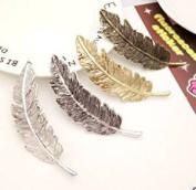 HBF 4 Pcs Feather Shaped Metal Hair Clip Vintage Hair Grips Hair Pin Claw Hair Accessories