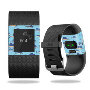 Skin Decal Wrap for Fitbit Surge Billfish Stripes