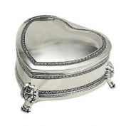 7.6cm SILVER FOOTED HEART BOX