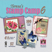 Theresa's Stamp Camp 6 Computer DVD 57 Techniques 100 Unique Cards 7.5 Hours of Video