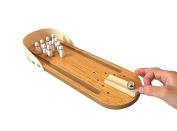 Otamise Wooden Mini Bowling Table Games Children Puzzle Toys Family Parent-Child Interaction