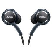 for Samsung Earphones by AKG For Galaxy S8 & S8 Plus W Extra Ear Gels, Grey, Bulk