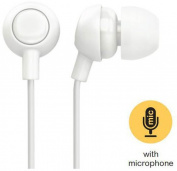 Ankit White Berry Bud Earbud Headphone W/Mic