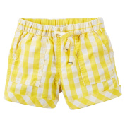 Carters Toddler Clothing Outfit Little Girls Pull-On Gingham Poplin Shorts Yellow